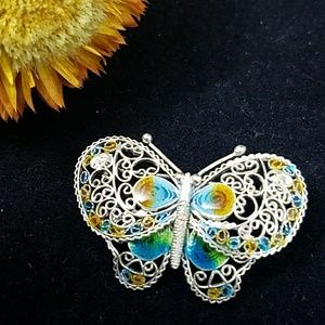 Jewelry - Sterling Silver Butterfly Brooch